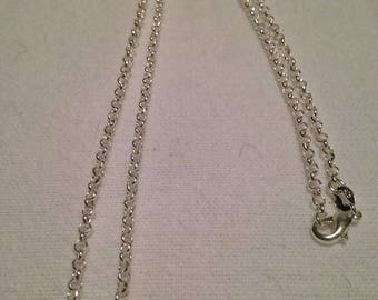 """20""""Sterling Silver Rolo Chain"""