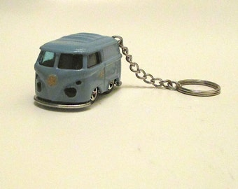 VW Hot Rod Short Bus keychain, Volkswagen Bus Keychain, Mens or Womens keychain, Hippie bus, Surfer, Dragster bus, Mens or Womens gift