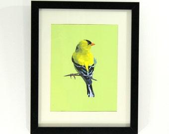 Gold Finch Geometric Art Print