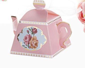 25 Teapot Favor Boxes