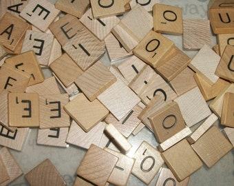 Scrabble Vowel Tiles Lot of 100