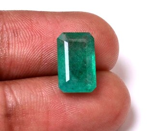 Emerald 4.35 Cts Emerald rectangle Shape Gemstone 12.40X7.50 MM Size Natural Emerald Loose rectangle shape Gemstone 014