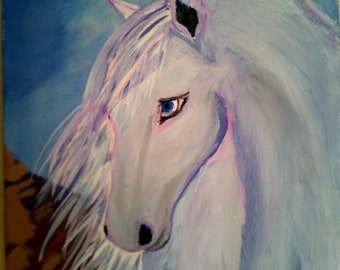 Gypsy Vanner Horse painting, Acrylic on Canvas frame
