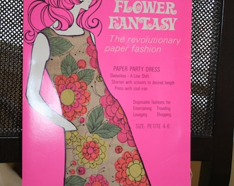 Hallmark Flower Fantasy Paper Party Dress Size Petite 4-6