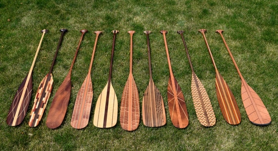 CUSTOM Handcrafted Wooden Canoe And Kayak Paddles