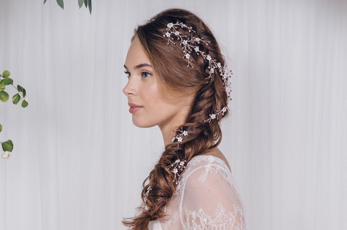 Plait hairvine wedding hairvine flower hairvine wedding