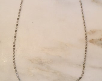 """Vintage sterling silver neckace 18"""" chain with sterling pendant"""