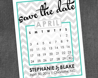 Calendar Save the Dates (Any Color)