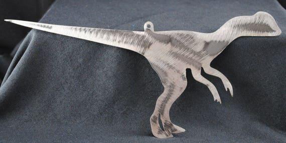 Velociraptor, Metal Dinosaur Art, Dinosaur Wall Art, Kids Room Wall Art, Jurassic Park, Meat Eater, Predator Dinosaur, Philosoraptor, Metal