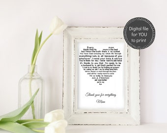 Mother of the Groom gift from son, DIGITAL Mother of groom gift you print yourself, Mother gift from Groom, Wedding gift for Mom from son