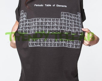 Periodic table shirt etsy periodic table of elements urtaz