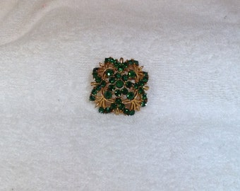 Green Lisner Brooch
