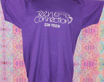Teen Connection Hotline Vintage T-Shirt