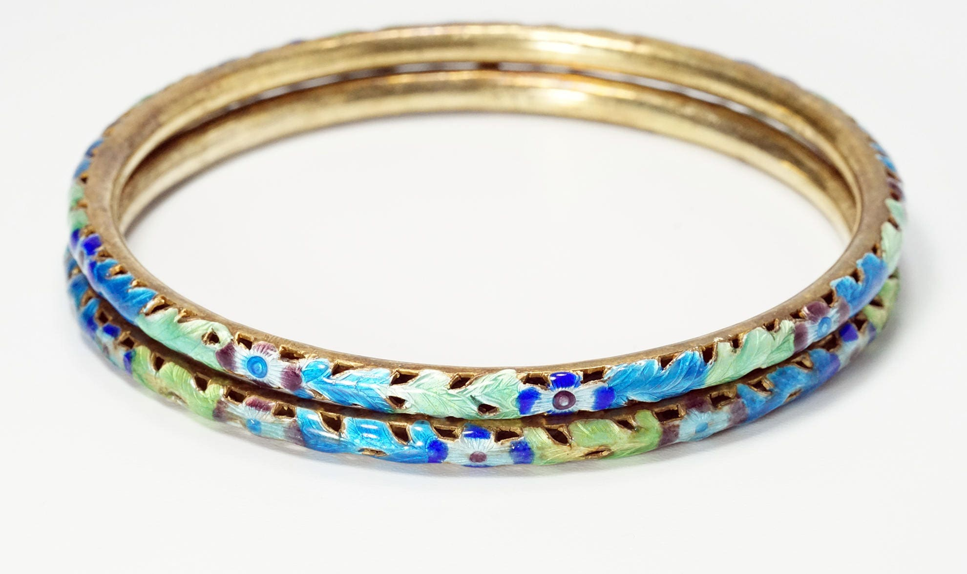 bangles bangle enamel view fullscreen vintage gold hermes in herm jewelry metallic s lyst