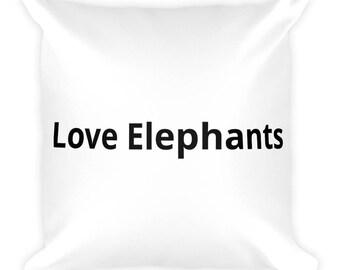 Love Elephants Square Pillow