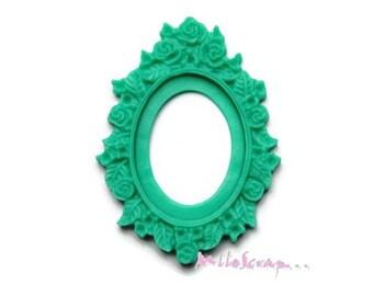 Set of 2 green embellishment frames scrapbooking (ref.410) *.