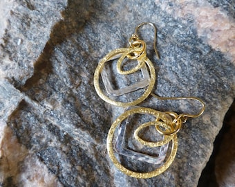 Geometric Earrings in Gold and Silver