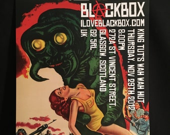 Blackbox The Monster That Challenged The World 2012 UK Glasgow Tour Concert Poster Signed/Numbered