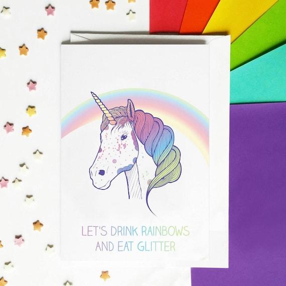 Funny unicorn birthday card bookmarktalkfo Image collections