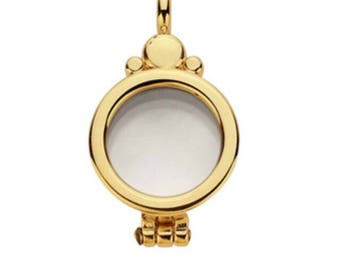 14k gold floating glass locket