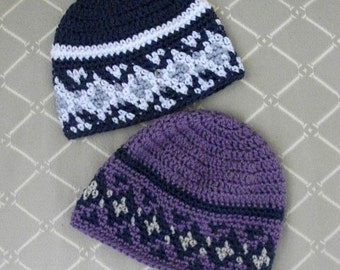 Download Now - CROCHET PATTERN Fair Isle Beanie - All Sizes - Pattern PDF