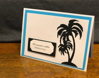 Hawaii|Love|Tree|Blue|Unique|Gift|Gift for her|gift for him|Handmade|Aloha|card|Lava|Hawaiian