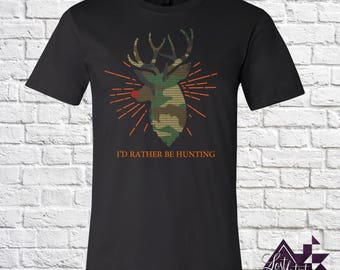 I'd Rather Be Hunting Reindeer Rudolph Christmas - T-shirt