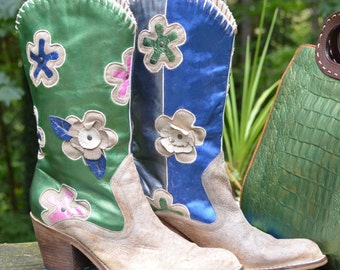 Size 9M - Stinkin' Cute Mia Candida Daisy Boot all HAWKED Up and Ready for Dancin'.