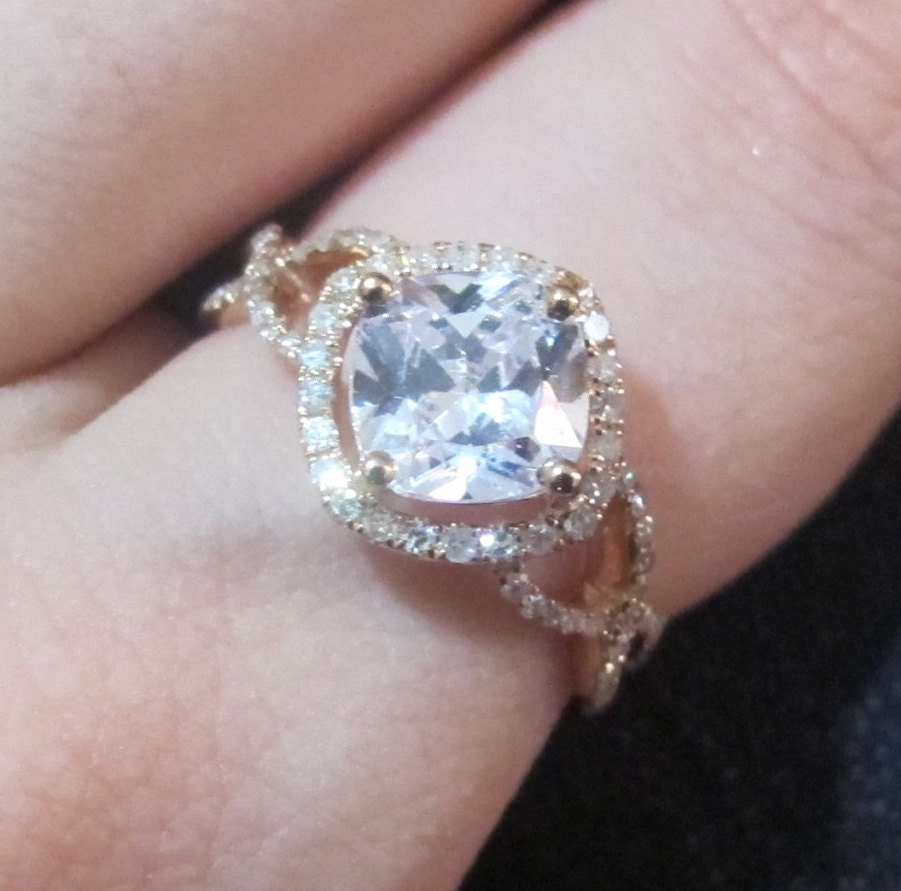 on with gold m the moissanite next engagement rose wedding icing ring halo rings