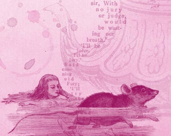 Carte Postale Sea of tears/ Postcard Sea of Tears/ Alice in Wonderland