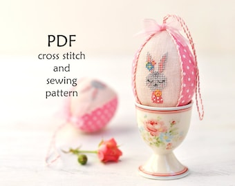 Easter Cross Stitch Pattern. Easter Egg Sewing Pattern. Easter Bunny Cross Stitch. Easter PDF Sewing Pattern. Easter Sewing Crafts. Easy DIY