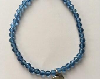 Blue beaded dream bracelet