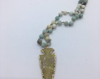 Ivory Arrowhead Necklace