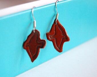 Sterling Silver 925 Earrings Birds Engraving