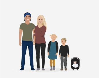 Custom Family Illustration