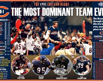 The 1985 Super Bowl Champion Chicago Bears Commemorative Poster
