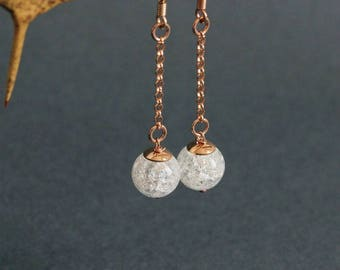 Fashion Crystal Earring White Rock Crystal Earrings Silver Dangle Earrings Crystal Gold Earrins 925 Silver Rose Gold Delicate Chain Earrings