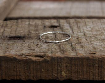 Twisted ring in sterling silver , made to order