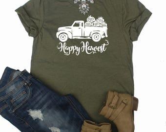 Happy Harvest Shirt / Pumpkin Shirt / Fall Shirt / Thanksgiving Shirt