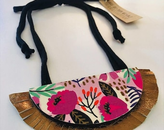 Funky Half-Moon Statement Necklace