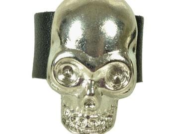 """Leatherring """"skull"""""""
