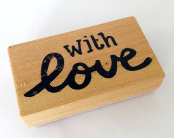 Wood rubber stamp