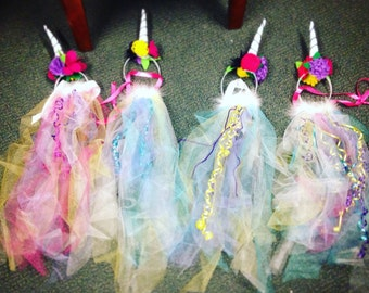 Unicorn Tails and Horn Set