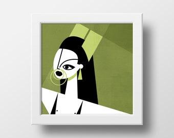 Aquaria - Green Print