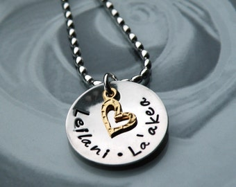 A Mother's Love Gold Heart Necklace