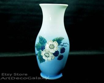 Royal Copenhagen Porcelain Berries & Blossoms Vase