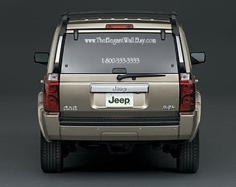 FREE SHIPPING Custom Car Decal Ad 2 LINES - Advertise your etsy shop/business