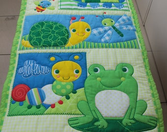 Quilted Wall Hanging Garden Friends