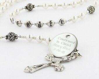 Confirmation Rosary, Confirmation Gift, Catholic Confirmation, Girl Rosary, Personalized Rosary, Confirmation Beads, Rosary, PeaceWSc