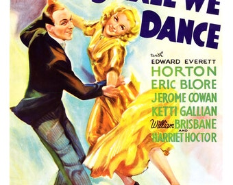 "Fred Astaire Ginger Rogers - Shall We Dance - Dance Movie Musical Poster Print - 13""x19"" or 24""x36"" - Home Theater Media Room Decor"